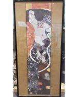 Gustav Klimt, Giuditta II, poster incorniciato, 100x48cm