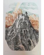 Giovanbattista De Andreis, Il castello dell'Innominato, acquaforte, 50x35 cm