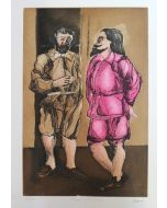Saverio Terruso, Colloquio con Don Rodrigo, acquaforte, 50x35 cm