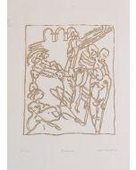 Remo Brindisi, Il lazzaretto, acquaforte, 50x35 cm