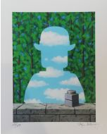 Stefano Bolcato, La belle promenade - René Magritte, grafica fine art, 30x37 cm