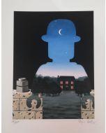 Stefano Bolcato, Donatore Felice - René Magritte, grafica fine art, 30x37 cm