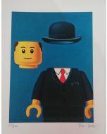 Stefano Bolcato, Pellegrino - René Magritte, grafica fine art, 30x37 cm