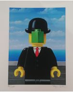 Stefano Bolcato, Mabrick - René Magritte, grafica fine art, 30x37 cm