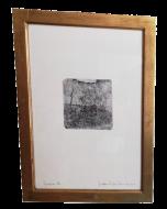 Giovanni Fattori, Paesaggio con due cani, acquaforte, 15,5x15,5 cm (56,5x42 cm con cornice)