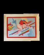 Anonimo, Figura femminile, tempera su carta, 82x62 cm