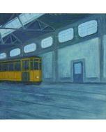 Andrea Ferrari Bordogna, In attesa, olio su carta intelata, 32x32 cm