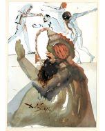 Salvador Dalì, Joseph et fratres in Aegypto, litografia, 50x39 cm, tratta da La Sacra Bibbia, 1967