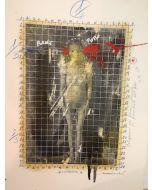 Enrico Pambianchi, Isteria, collage e disegno su carta, 25x36 cm