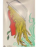 La Pupazza, Asciuttapasta, grafica su PVC, 31X47 cm