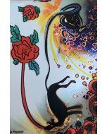 La Pupazza, Il canerosa, grafica su PVC, 31X47 cm