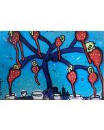 La Pupazza, L'albero di fragoletazzine, grafica su PVC, 31X47 cm