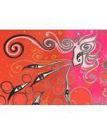 La Pupazza, La donna che soffia gli occhi n°6, Spray e maker su carta, 21x30 cm
