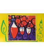 La Pupazza, Le bolle di vino, grafica su PVC, 31X47 cm