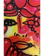 La Pupazza, Mezzo viso, grafica su PVC, 31X47 cm