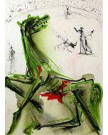Salvador Dalì, La vittima della festa, litografia, 36x56 cm tratta da Les Chevaux de Dalì, 1970-72