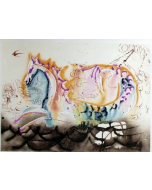 Salvador Dalì, Il Cavallo Marino, litografia, 36x56 cm tratta da Les Chevaux de Dalì, 1970-72