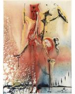 Salvador Dalì, Il Cavaliere Medievale, litografia, 36x56 cm tratta da Les Chevaux de Dalì, 1970-72