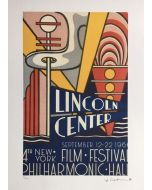 Roy Lichtenstein, Lincoln center Film Festival, litografia su carta Arches France, 56,5x38 cm