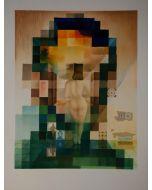 Salvador Dalì, Gala regardant la mer Meditèrranèe qui, à vingt mètres, se transforme en portrait d'Abraham Lìncoln, granolitografia a colori, 70x100, 1992