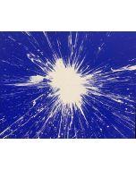 Julian T, Blu, acrilico su tela, 100x80 cm, 2015