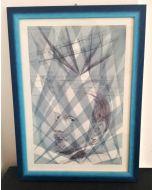 Oscar Morosini, Luigi Russolo, acquarello su carta,  26x36cm (con cornice)