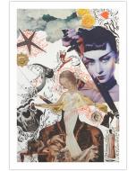 Maria Chiara Signorini, Autoritratto, collage e inchiostro su carta, 33x48 cm