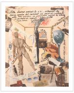 Maria Chiara Signorini, La stanza senza te, collage e inchiostro su carta, 50x62 cm
