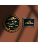 Aria Carelli, L'arte del ritorno, china e acrilici su carta mista a cotone, diametro 31cm (con cornice), 20,5x15,5 cm (con cornice), 2020