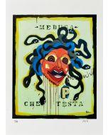 Yux, Medusa che testa, retouchè, 46x32 cm
