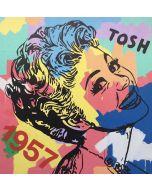 Andrew Tosh, Millenovecentocinquantasette, tecnica mista su tela, 140x140 cm