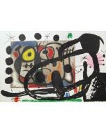 Joan Mirò, Cartons, litografia, 37x55 cm, 1965