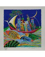 Meloniski da Villacidro, Arca del saggio, retouché, 36x36 cm