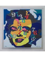 Ugo Nespolo, Marilyn pitagorica, serigrafia materica su faesite, 60x60 cm