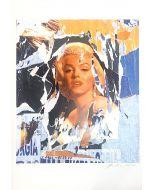 Mimmo Rotella, Omaggio a Marilyn, seridécollage, 70x100 cm