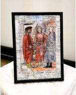 Giancarlo Prandelli, dettaglio della Flagellazione (Piero Della Francesca), china e matita colorata su carta, 29,5x20,5cm (D191)