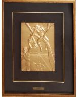 Salvador Dalì, Peccato originale, bassorilievo, 21x17,5 cm (47,5x51 con cornice)