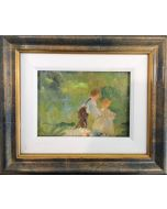 Daniela Penco, Fanciullezza, olio su tela, 18x24 cm (25x30 cm con cornice)