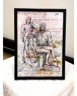 Giancarlo Prandelli, Pietà di Michelangelo, china e matita colorata su carta, 29.5x20.5cm (D188)