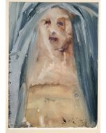 Salvador Dalì, Plange, virgo, accincta sacco, litografia, 50x39 cm, tratta da La Sacra Bibbia, 1967