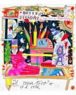 """Francesco Musante, Il creativo, serigrafia materica, 23x20 cm, tratta dalla serie """"I Mestieri"""""""