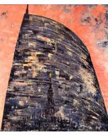 Pier Luca Bencini, Radici, acrilico su tela, 70x80 cm