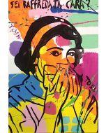 Andrew Tosh, Raffreddata, acrilico e smalto su carta, 48x33 cm