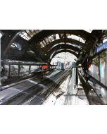 Alessandro Russo, Milano Stazione Centrale, acrilico su carta, 50x70 cm
