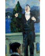 Scuola Espressionista, Direttore d'orchestra, Olio su tavola, 20x12,5 cm