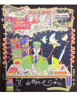 """Francesco Musante, Il dottore, serigrafia materica, 23x20 cm, tratta dalla serie """"I Mestieri"""""""