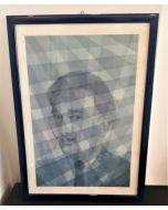 Oscar Morosini, Omaggio a Salvador Dalì, acquarello su carta,  26x36cm (con cornice)