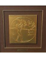 Salvador Dalì, Gli sport, bassorilievo, 55x57 cm (cornice compresa)