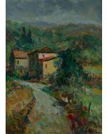 Antonio Sbrana, Senza titolo, olio su tavola, 30x40 cm