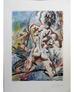 Salvador Dalì, Les Pecheurs, litografia su pergamena, 75x55 cm
